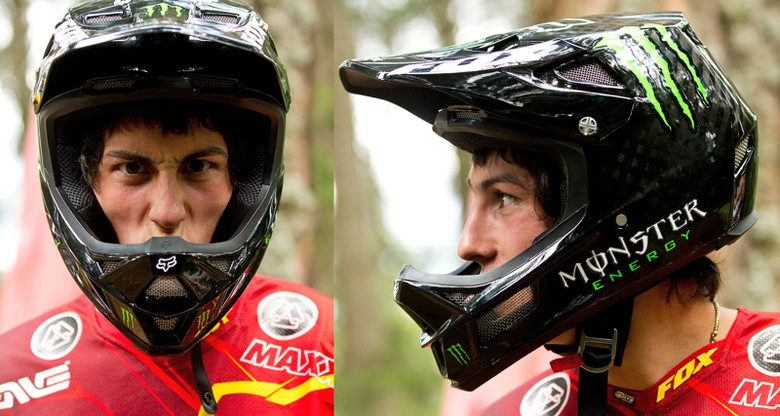 New Fox Fullface Helmet on Josh Bryceland - Josh Bryceland in a New Fox Fullface Helmet - Mountain Biking Pictures - Vital MTB