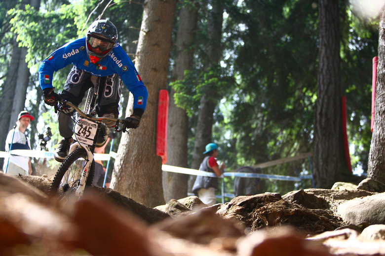 Johannes Von Klebelsberg Crashing at Val di Sole - 2012 UCI World Cup, Val di Sole Day 2 - Mountain Biking Pictures - Vital MTB