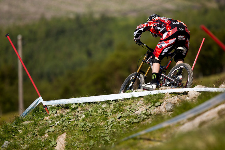 Steve Peat's Butt Patch, Won't Back Down - 2012 UCI World Cup, Fort WIlliam Scotland, Day 2 - Mountain Biking Pictures - Vital MTB
