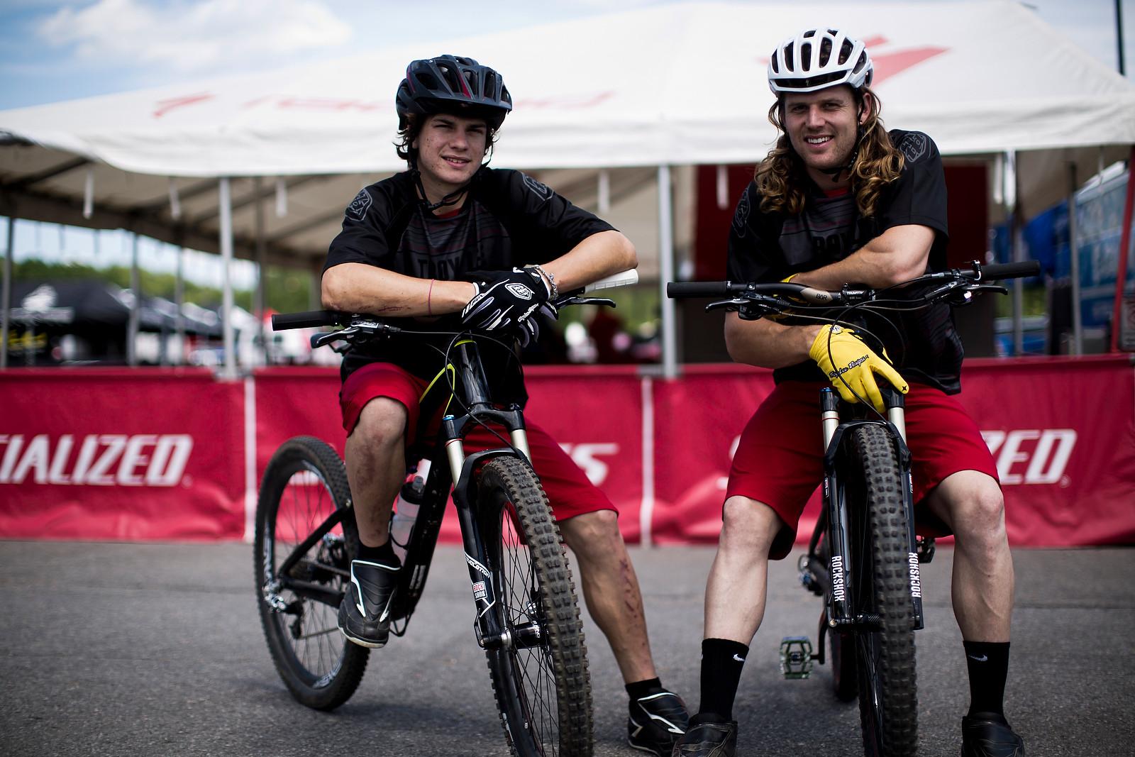 Mitch Ropelato and Brad Benedict in Mont Sainte Anne - 2012 UCI World Cup, Mont Sainte Anne, Day 1 - Mountain Biking Pictures - Vital MTB