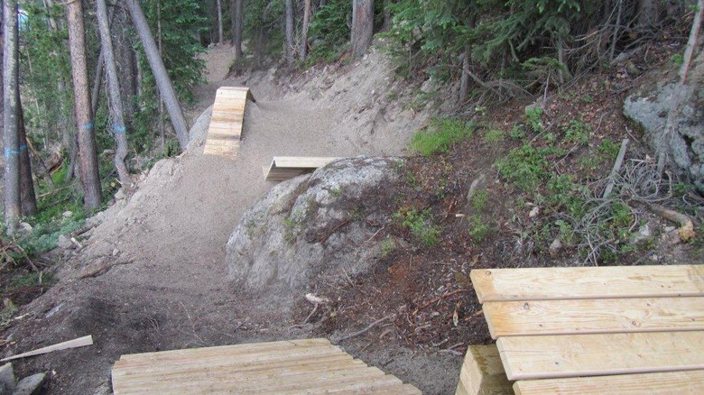 Gap Options on Bootleg Trail at Trestle - Trestle Bike Park Boot Camp Trail Updates - Mountain Biking Pictures - Vital MTB