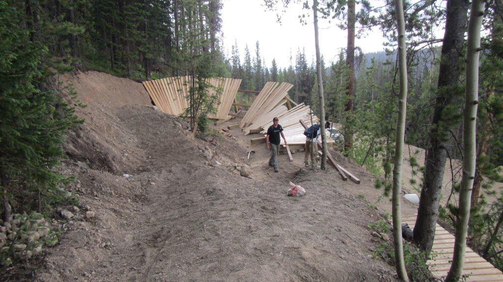 New Wooden Berm on Bootcamp at Trestle Bike Park - Trestle Bike Park Boot Camp Trail Updates - Mountain Biking Pictures - Vital MTB
