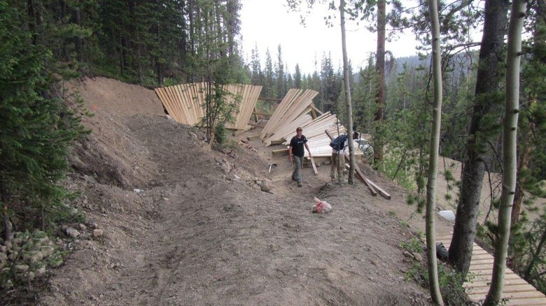 New Wooden Berm on Bootcamp at Trestle Bike Park - Trestle Bike Park Boot Camp Trail Updates - Mountain Biking Pictures - Vital MTB