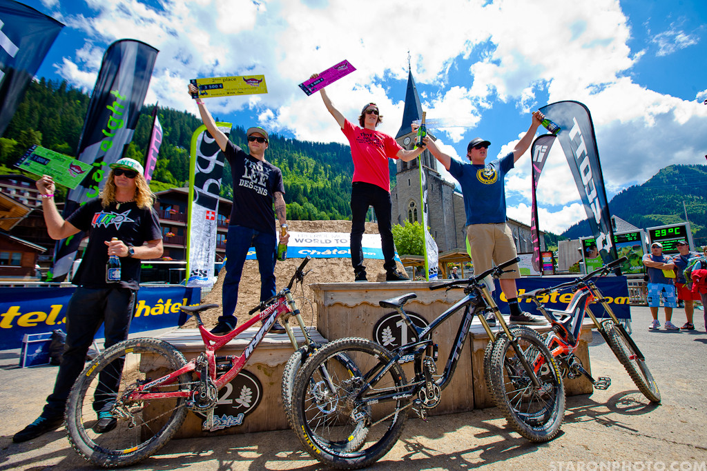 2012 Chatel Mountainstyle Podium, Semenuk on Top - 2012 Chatel Mountain Style - Mountain Biking Pictures - Vital MTB