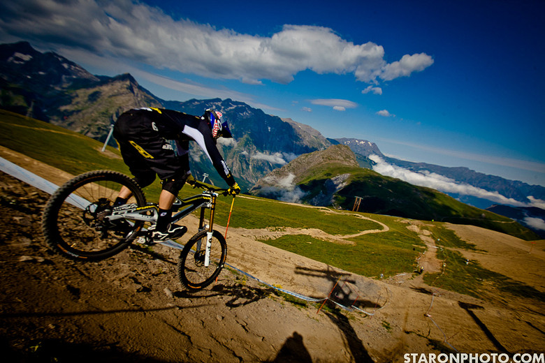 Gee Atherton, 1st Place Air DH Crankworx Les 2 Alpes - 2012 Air DH Photo Gallery from Crankworx Les 2 Alpes - Mountain Biking Pictures - Vital MTB