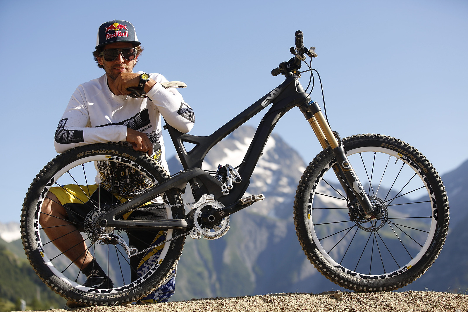 Filip Polc's Evil Uprising All-Mountain Bike from Crankworx Les 2 Alpes - Filip Polc's Evil Uprising - Mountain Biking Pictures - Vital MTB