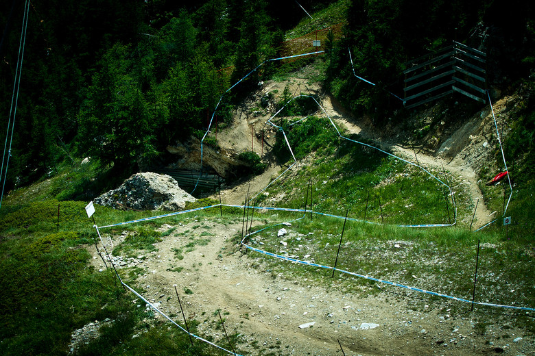 Tricky Val d'Isere Track - 2012 UCI World Cup, Val d'Isere, France, Day 1 - Mountain Biking Pictures - Vital MTB