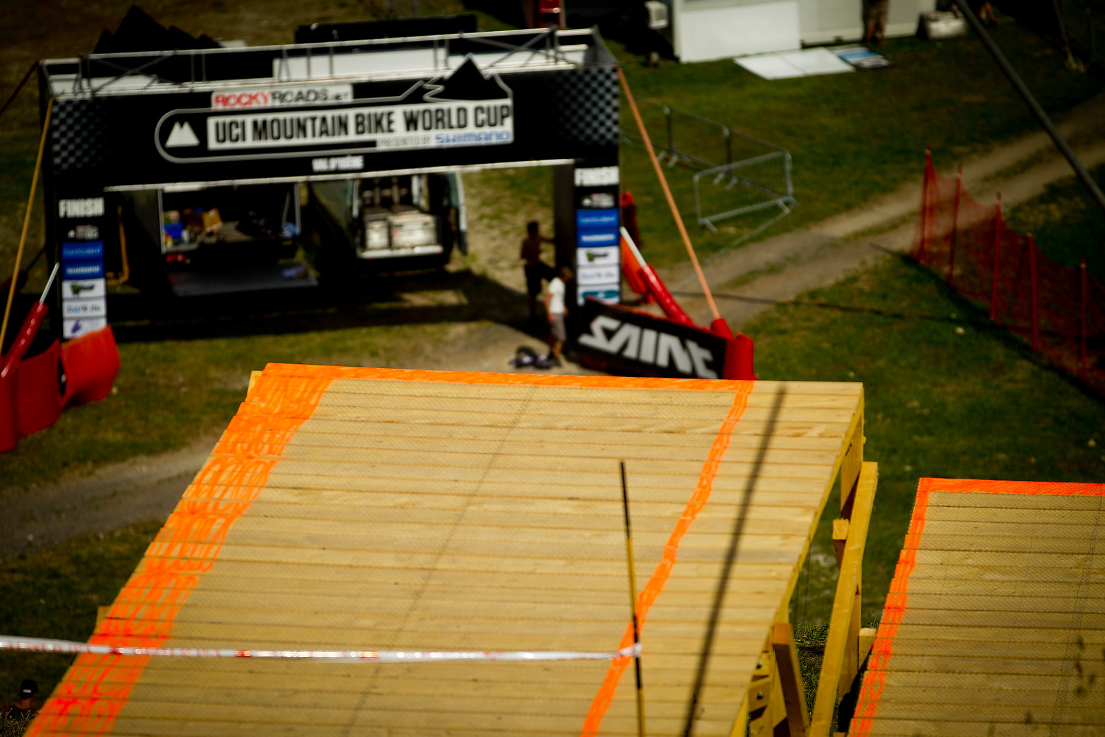 Mega Gnarly Finish Drop at Val d'Isere - 2012 UCI World Cup, Val d'Isere, France, Day 1 - Mountain Biking Pictures - Vital MTB