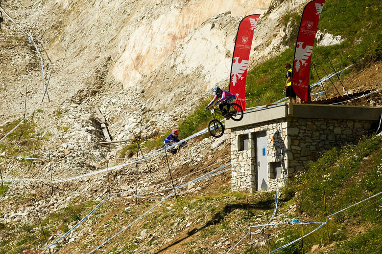 Mickael Pascal, 2nd in Timed Training at Val d'Isere World Cup - 2012 UCI World Cup, Val d'Isere, France, Day 2 - Mountain Biking Pictures - Vital MTB