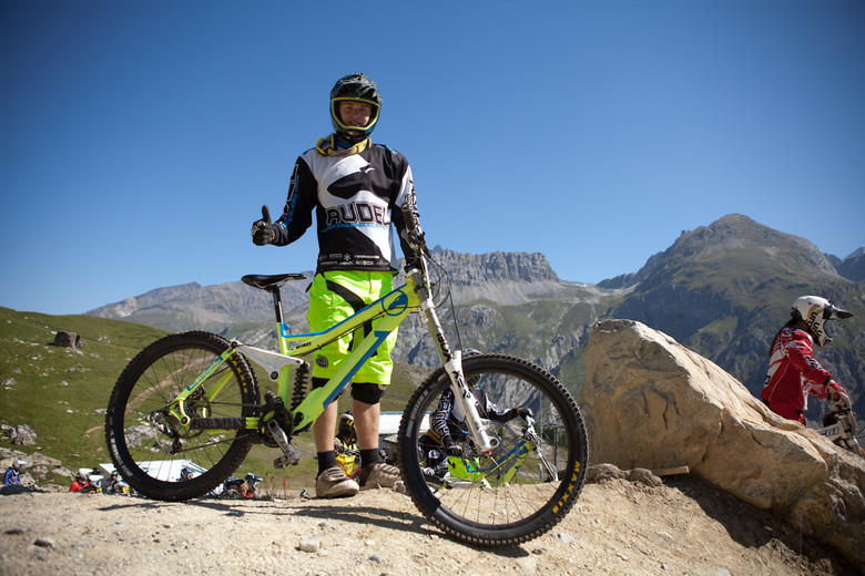 Alutech DH bike - European DH Bikes from Val d'Isere - Mountain Biking Pictures - Vital MTB