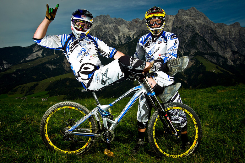 Brook MacDonald and Damien Spagnolo with their Mondraker Summum - World Championships Riders and Bikes - Mountain Biking Pictures - Vital MTB