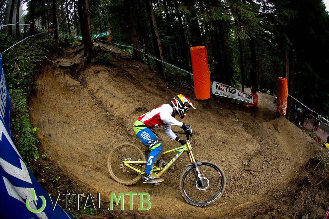 Noel Niederberger Cornering at World Champs - How Did You Miss It? - Mountain Biking Pictures - Vital MTB