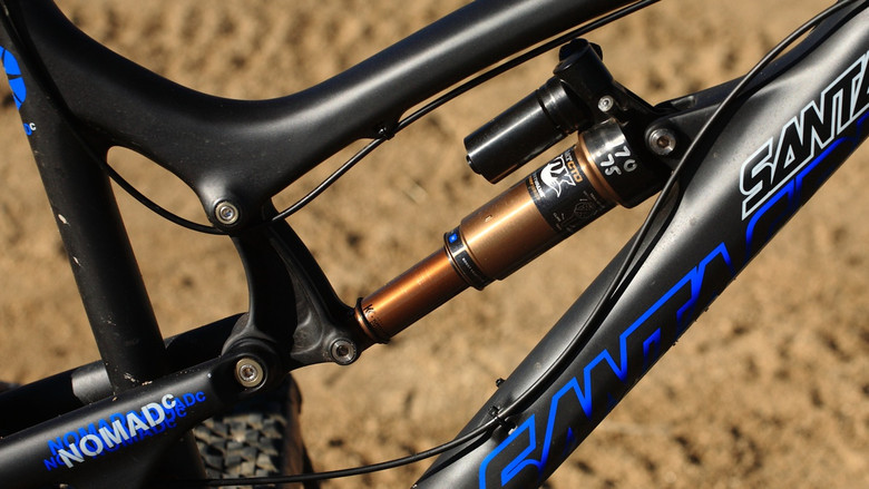 Prototype Fox Rear Shock - Santa Cruz Nomad Carbon with Prototype Fox Suspension - Mountain Biking Pictures - Vital MTB