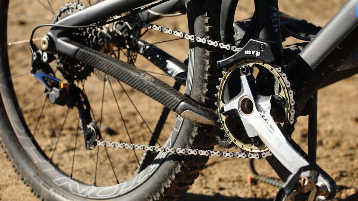 Single Ring Shimano XTR Drivetrain - Santa Cruz Nomad Carbon with Prototype Fox Suspension - Mountain Biking Pictures - Vital MTB