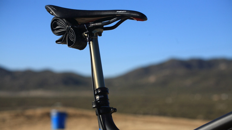 Fox DOSS Adjustable Seat Post - Santa Cruz Nomad Carbon with Prototype Fox Suspension - Mountain Biking Pictures - Vital MTB