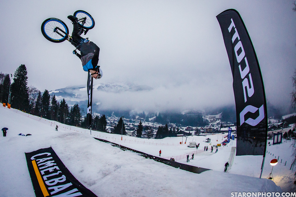 Mehdi Gani, Backflip - 2013 White Style - MTB Slopestyle on Snow - Mountain Biking Pictures - Vital MTB