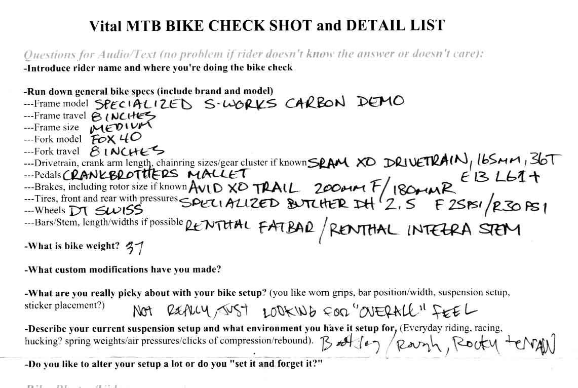 Aaron Gwin's Bike Setup Info - Aaron Gwin's 2013 Specialized S-Works Demo 8 Race Bike - Mountain Biking Pictures - Vital MTB