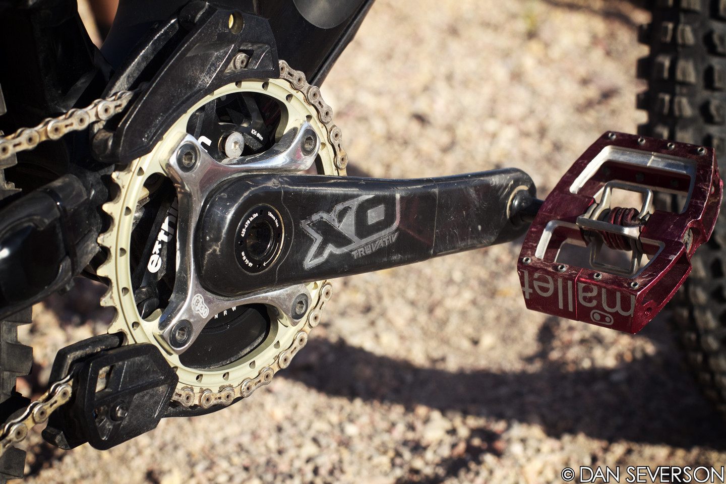 SRAM X0 Cranks with e13 LG1+ Chainguide - Aaron Gwin's 2013 Specialized S-Works Demo 8 Race Bike - Mountain Biking Pictures - Vital MTB