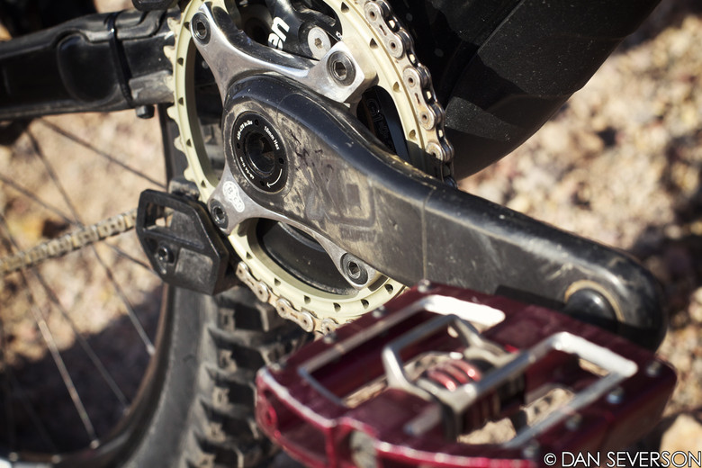 Crank Brothers Mallet DH Pedals - Aaron Gwin's 2013 Specialized S-Works Demo 8 Race Bike - Mountain Biking Pictures - Vital MTB