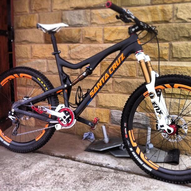 Steve Peat's Santa Cruz Bronson - sspomer - Mountain Biking Pictures - Vital MTB