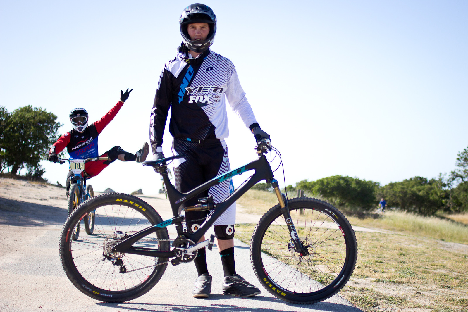 Pro Dual Slalom Bikes: Cam Cole's Custom Yeti SB-66 Dual Slalom Bike - 2013 Sea Otter Pro Slalom Bikes - Mountain Biking Pictures - Vital MTB
