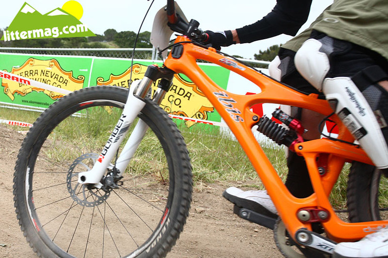 Brian Lopes' Ibis squished - G-Out Project: Sea Otter Classic - Mountain Biking Pictures - Vital MTB