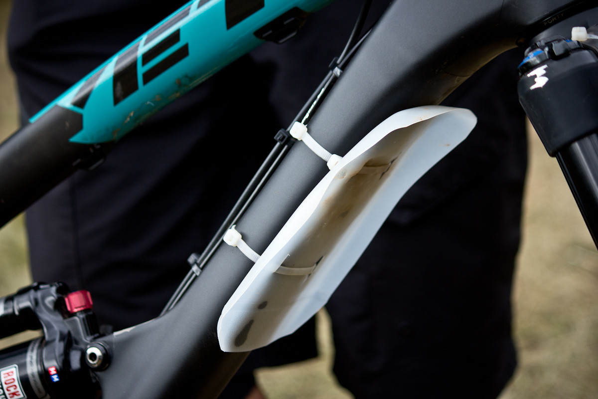 Milk Jug Fender on Nate Hills's Yeti SB66 Carbon  - Even More Enduro Bikes from 2013 Hood River Oregon Enduro - Mountain Biking Pictures - Vital MTB