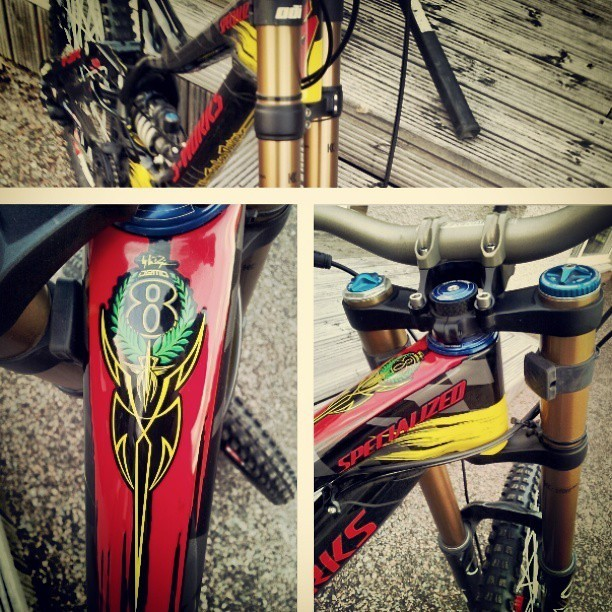 Aaron Gwin's Troy Lee Designs Specialized Demo for Fort William - sspomer - Mountain Biking Pictures - Vital MTB