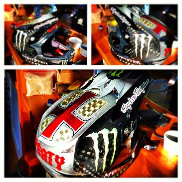 Steve Peat's Custom Troy Lee D3 Helmet for Fort William - sspomer - Mountain Biking Pictures - Vital MTB