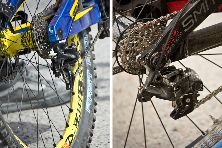 Prototype Blackbox Rear Derailleur and 7-Speed Cassette on Sam Hill's Bike - 2013 Fort William World Cup Pit Bits - Mountain Biking Pictures - Vital MTB