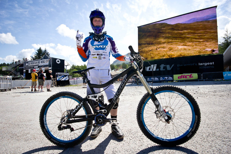 Bernard Kerr's Pivot Phoenix - 24 Pro DH BIkes from Fort William World Cup - Mountain Biking Pictures - Vital MTB