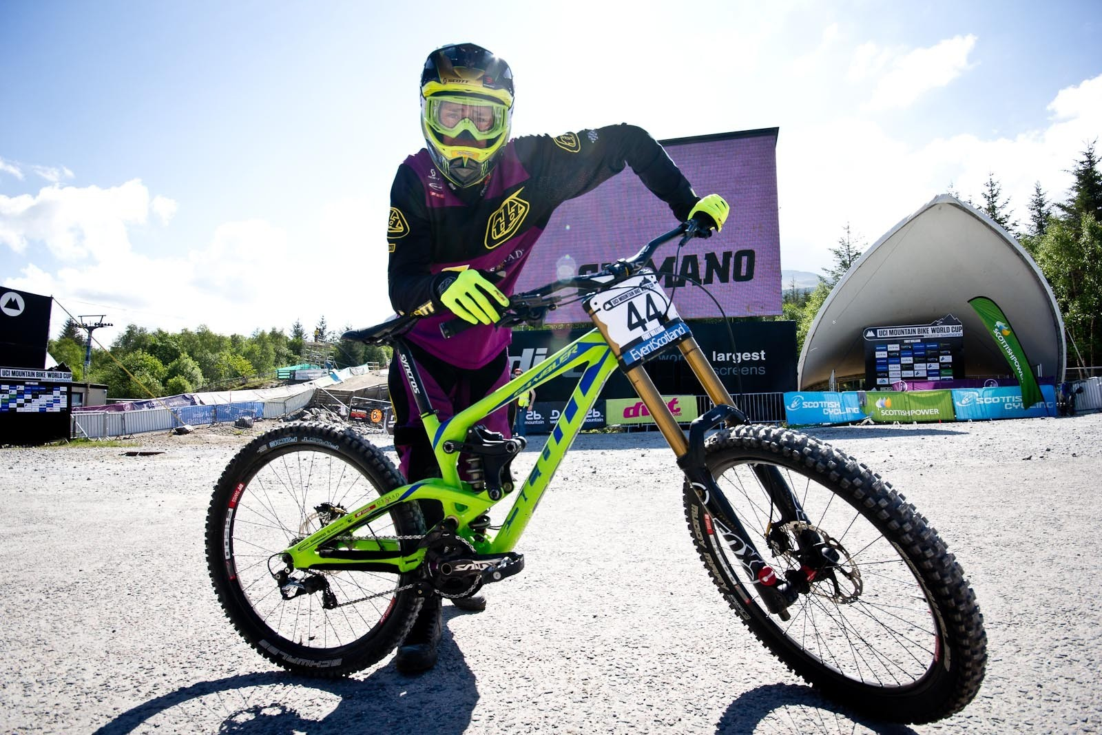 Brendan Fairclough's Scott Gambler - 24 Pro DH BIkes from Fort William World Cup - Mountain Biking Pictures - Vital MTB