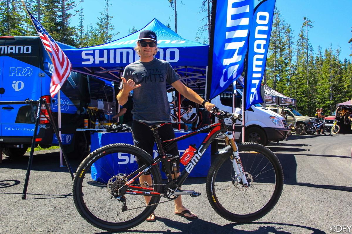 Aaron Bradford's BMC Four Stroke with Electric Fox ICD at Bend Oregon Enduro - 2013 Bend Oregon Enduro Pit Bits and Pro Bikes - Mountain Biking Pictures - Vital MTB