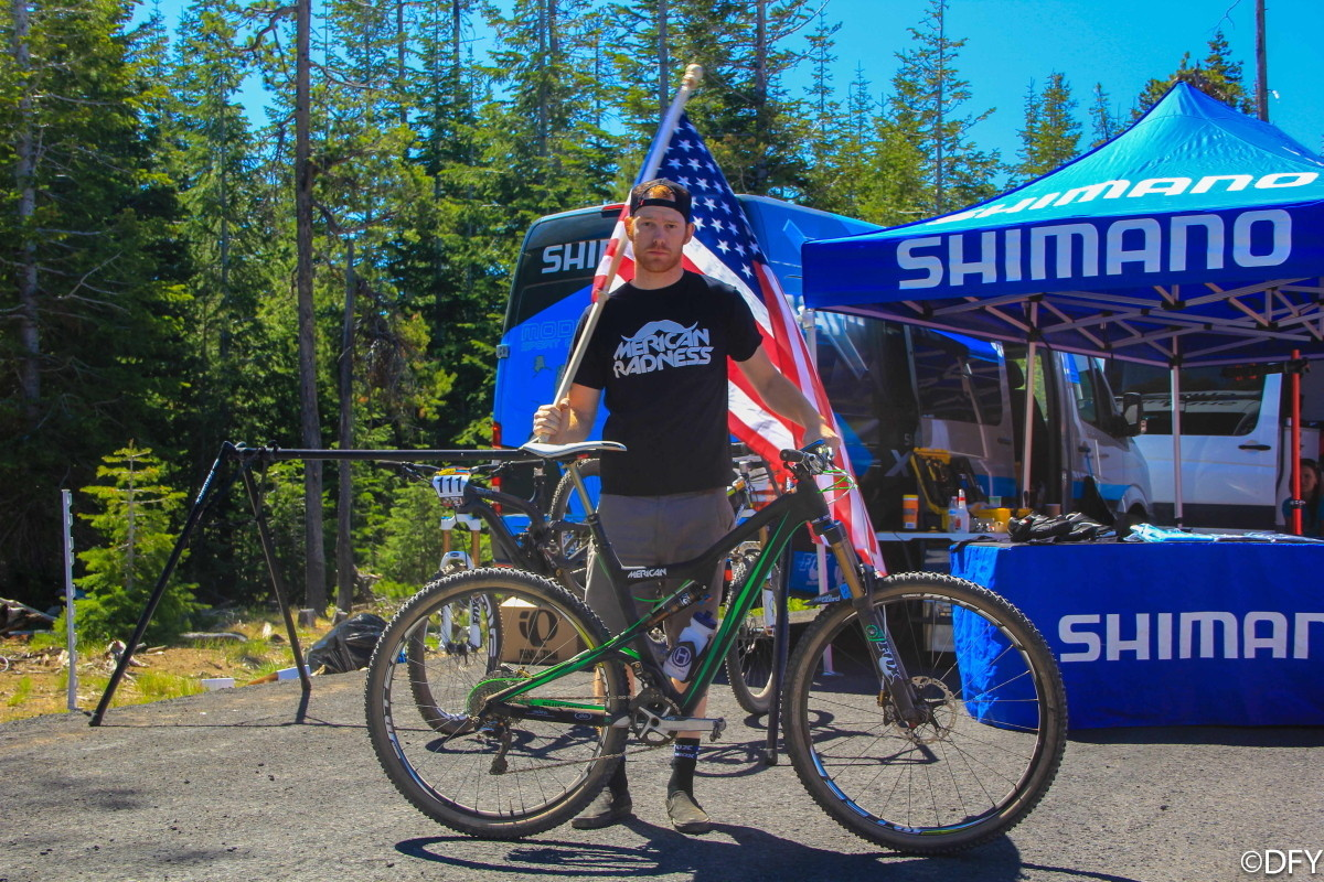 Tommy McGrath with his Ibis Ripley at Bend Oregon Enduro - 2013 Bend Oregon Enduro Pit Bits and Pro Bikes - Mountain Biking Pictures - Vital MTB