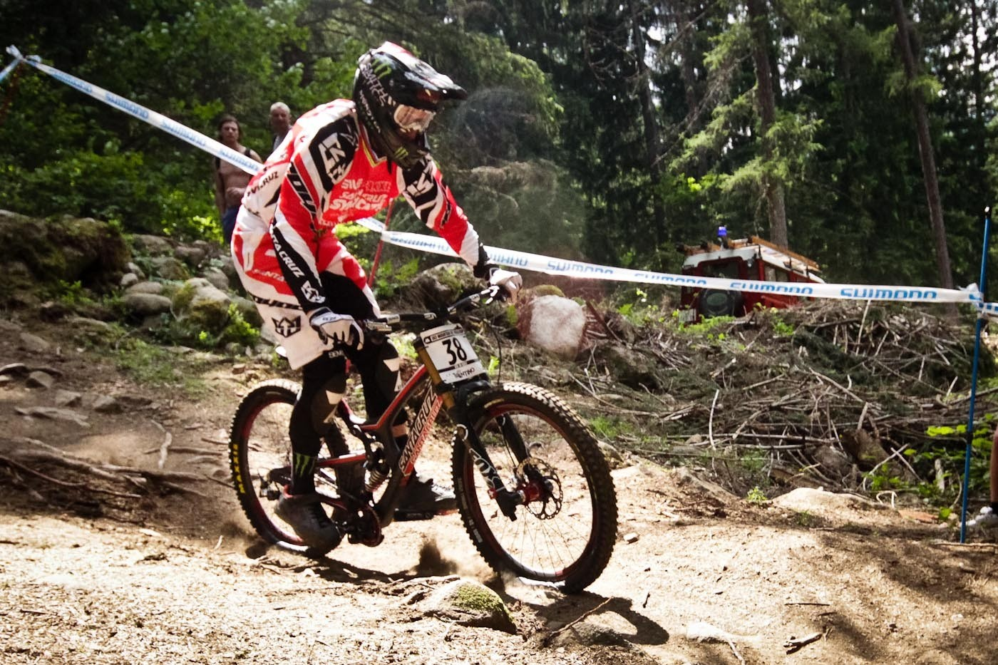 Steve Peat Santa Cruz V10c G-Out at Val di Sole - G-OUT PROJECT: 2013 Val di Sole World Cup - Mountain Biking Pictures - Vital MTB