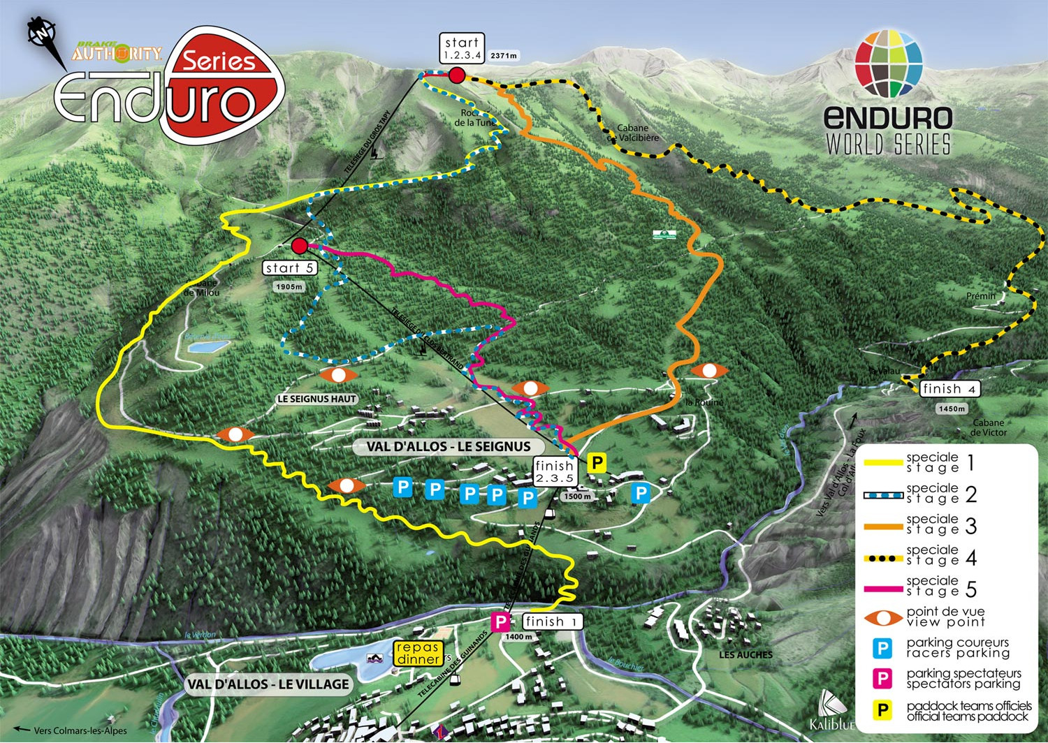 30,000 Feet of Descending - Enduro World Series Val d'Allos Course Map 2013 - 2013 Enduro World Series France Photo Gallery - Mountain Biking Pictures - Vital MTB
