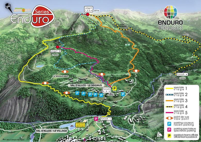 30,000 Feet of Descending - Enduro World Series Val d'Allos Course Map 2013 - 2013 Enduro World Series France Photo Gallery - Mountain Biking Pictures - Vital MTB