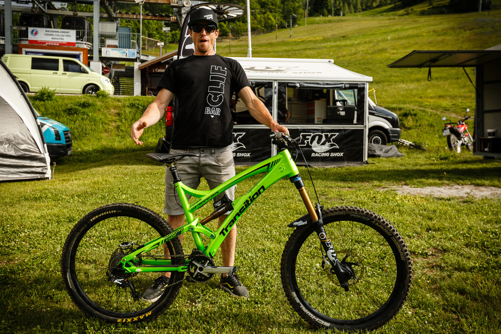 Lars Sternberg with his Transition Covert Carbon at Val d'Allos Enduro World Series - Pit Bits: Enduro World Series Val d'Allos, France - Mountain Biking Pictures - Vital MTB