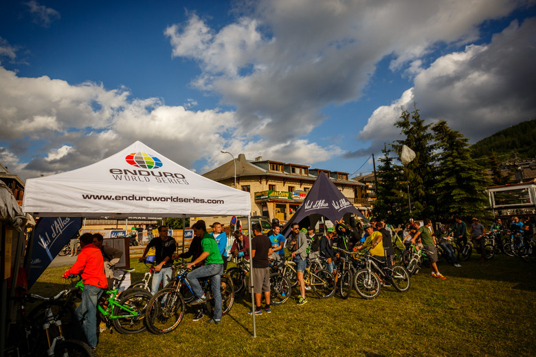 Racer Check-in at Val d'Allos Enduro World Series - Pit Bits: Enduro World Series Val d'Allos, France - Mountain Biking Pictures - Vital MTB