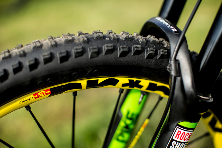 Jerome Clementz's Mavic Crossmax Enduro Wheel Tire System - Pit Bits: Enduro World Series Val d'Allos, France - Mountain Biking Pictures - Vital MTB