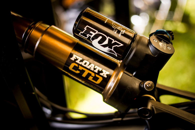 Dan Atherton's Fox Float X Rear Shock at Val d'Allos - Pit Bits: Enduro World Series Val d'Allos, France - Mountain Biking Pictures - Vital MTB