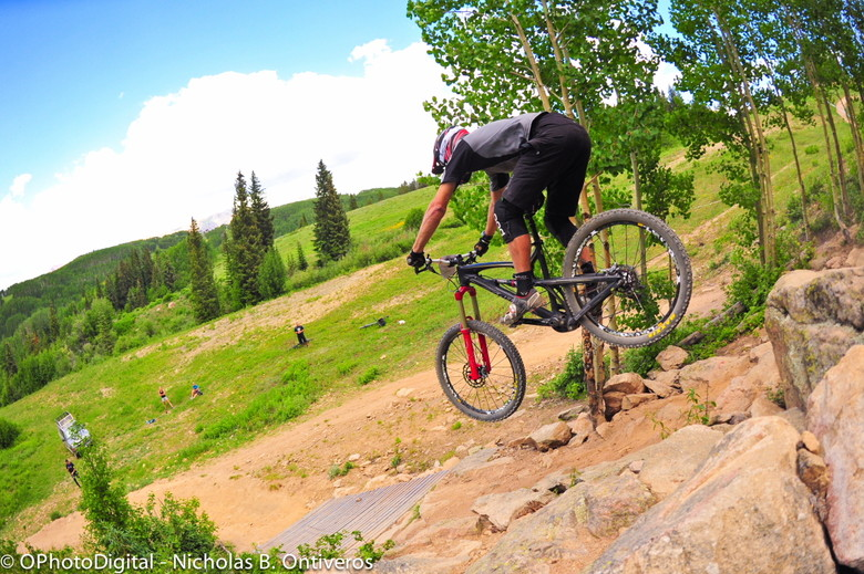 Hucking the Rock Step Down at BME Crested Butte - Big Mountain Enduro Crested Butte Photo Gallery - Mountain Biking Pictures - Vital MTB