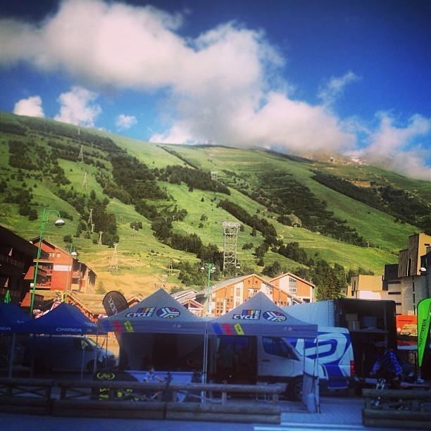 @valentinamacheda EWS Les 2 Alpes Venue Photo - Enduro World Series Les 2 Alpes Pre-race Insight - Mountain Biking Pictures - Vital MTB