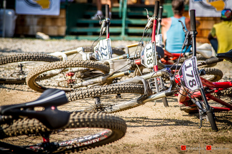 Bikes in the Pits at China Peak Enduro - Race Report, Video & Photos from the China Peak Enduro presented by Santa Cruz and VP Components - Mountain Biking Pictures - Vital MTB