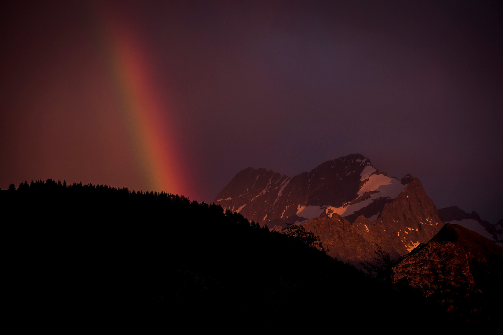 Epic Rainbow and Alpenglow from Crankworx L2A - Crankworx L2A - Air Downhill Photo Action - Mountain Biking Pictures - Vital MTB