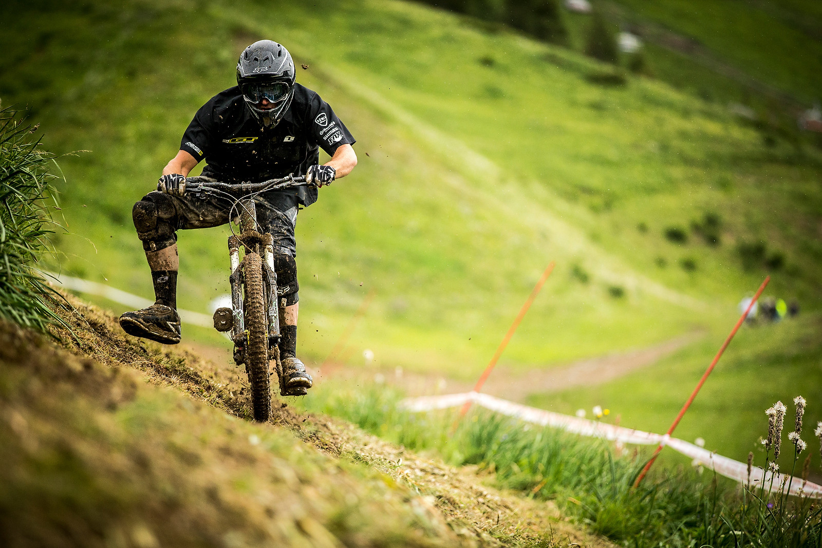 GT's Mark Maurissen Testing Cut Spikes at Crankworx L2A - Crankworx L2A - Air Downhill Photo Action - Mountain Biking Pictures - Vital MTB