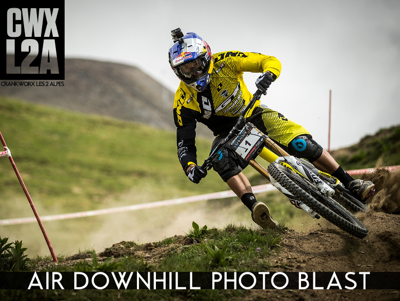 CWX L2A Air Downhill Photo Blast - Gee Atherton Gets Loose! - Crankworx L2A - Air Downhill Photo Action - Mountain Biking Pictures - Vital MTB