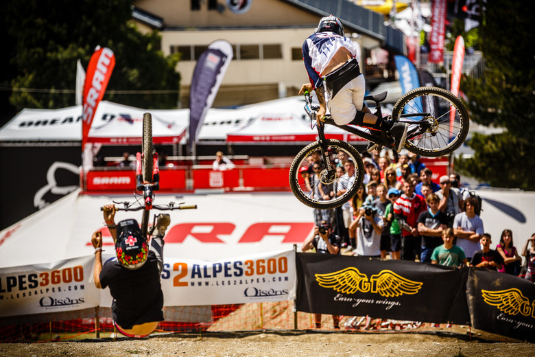 Cam Zink and Tomas Lemoine at Crankworx L2A Dual Speed and Style - Crankworx L2A Speed and Style Photos and Results - Mountain Biking Pictures - Vital MTB