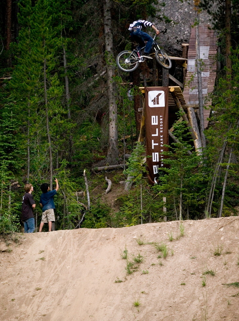Cam Zink, Massive 360 Drop at Crankworx Colorado 2008 - Cam Zink, Pro Rider Photo Gallery - Mountain Biking Pictures - Vital MTB