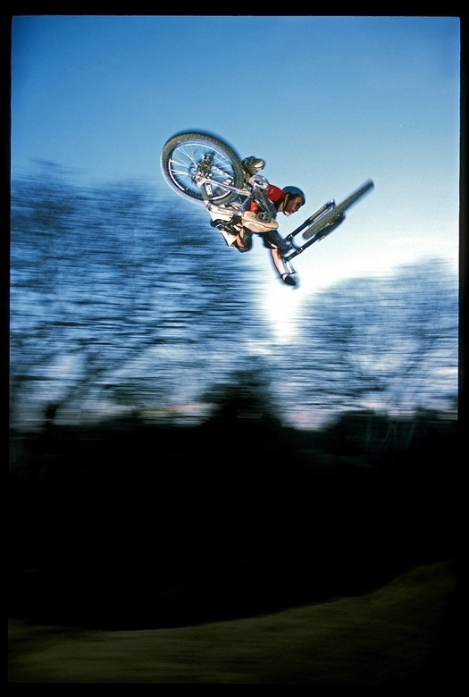 Cam McCaul Hip Blur Near San Jose, 2003 - Cam McCaul, Pro Rider Photo Gallery - Mountain Biking Pictures - Vital MTB